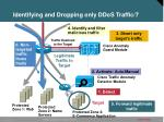 identifying and dropping only ddos traffic 7