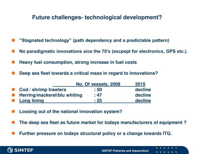 Future challenges- technological development?