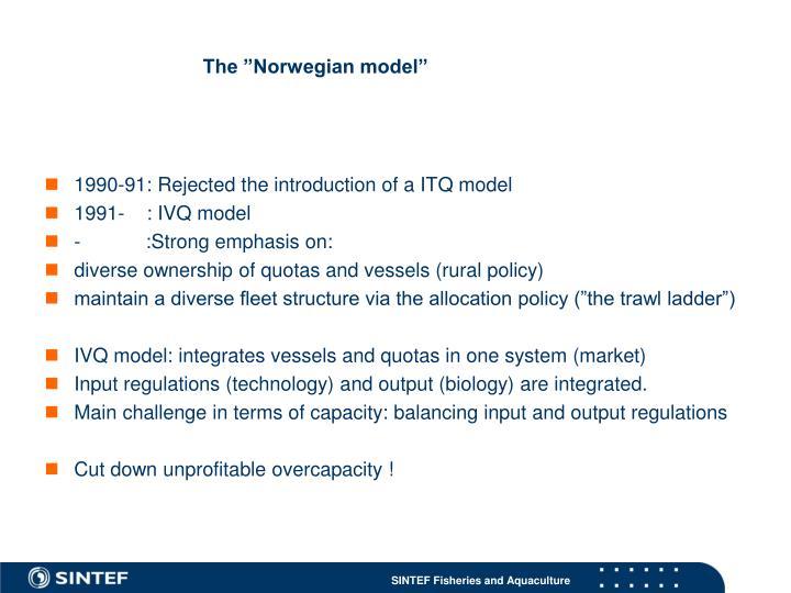 """The """"Norwegian model"""""""