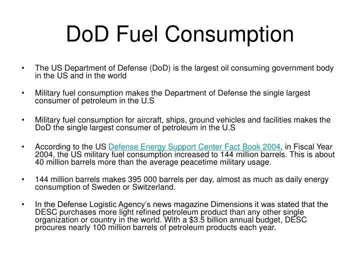 DoD Fuel Consumption