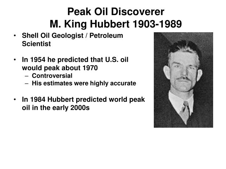 Peak Oil Discoverer