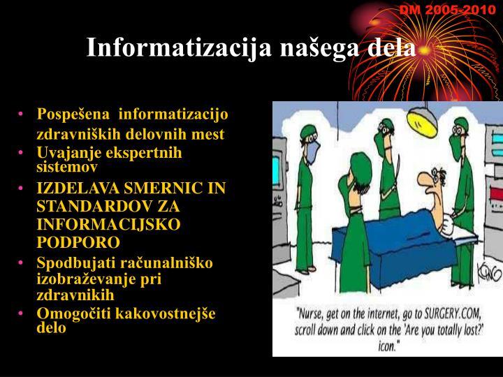 Informatizacija našega dela