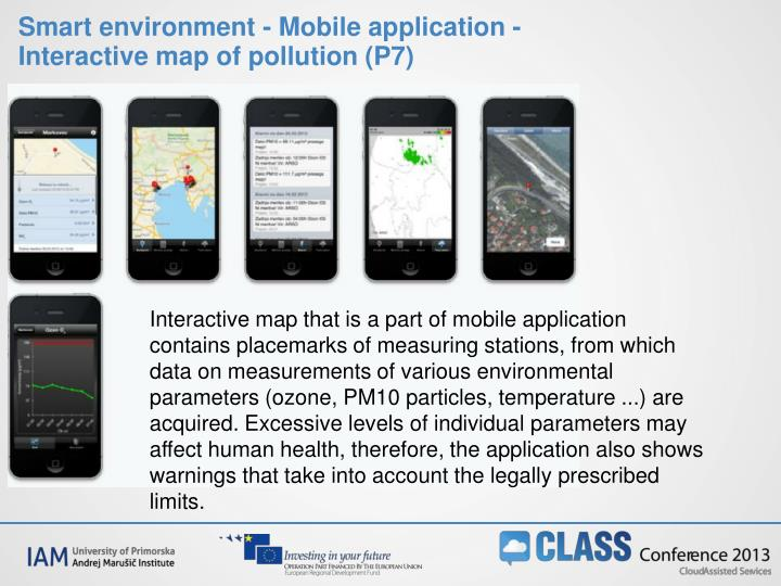 Smart environment - Mobile application - Interactive map of pollution (P7)