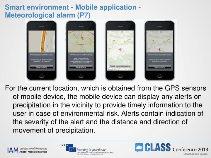 Smart environment - Mobile application - Meteorological alarm (P7)