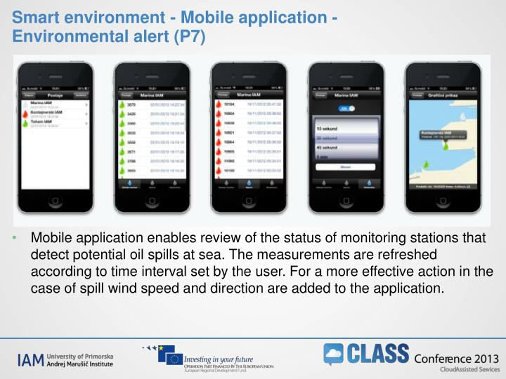 Smart environment - Mobile application - Environmental alert (P7)