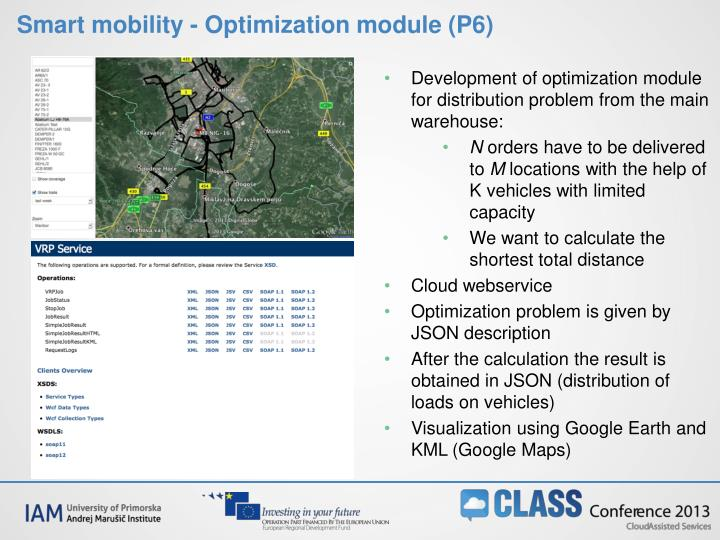 Smart mobility - Optimization module (P6)