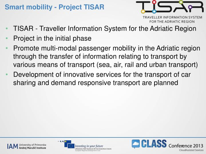 Smart mobility - Project TISAR