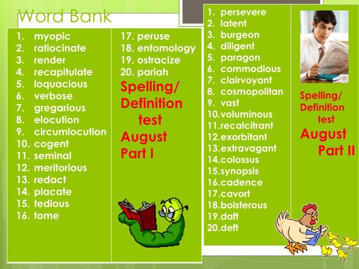 Word Bank