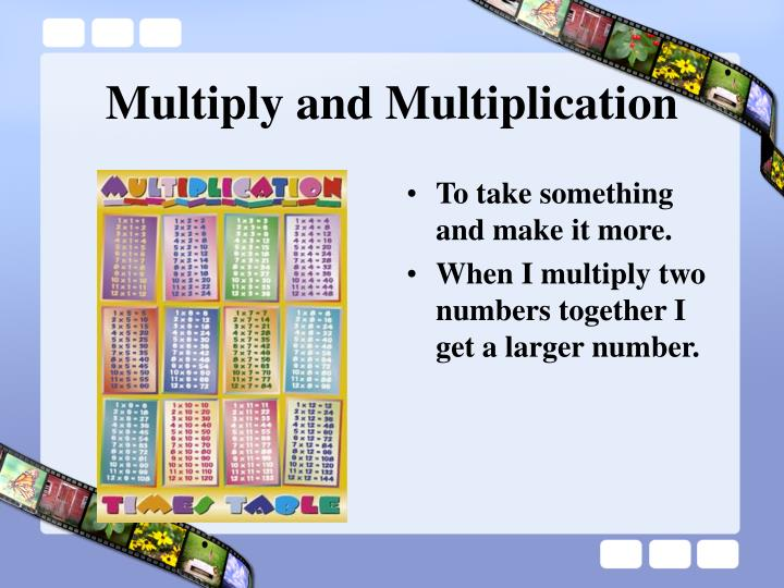 Multiply and Multiplication