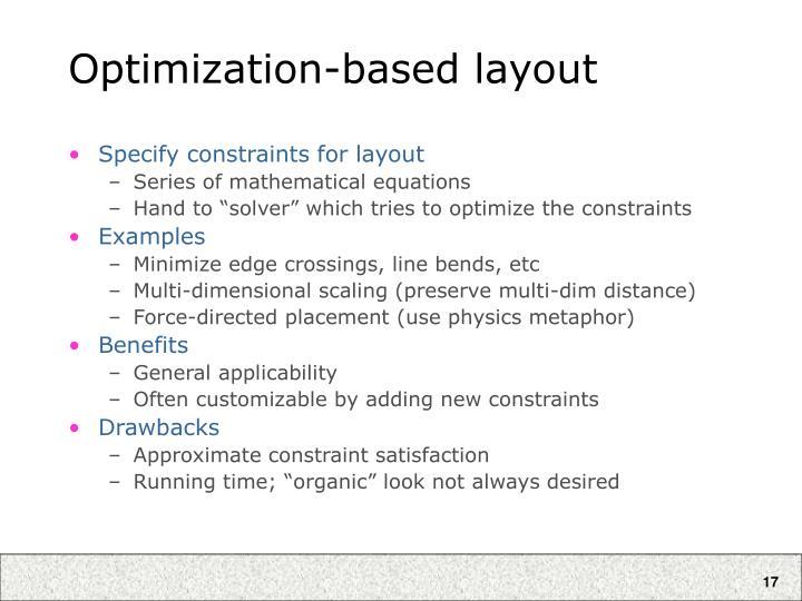 Optimization-based layout