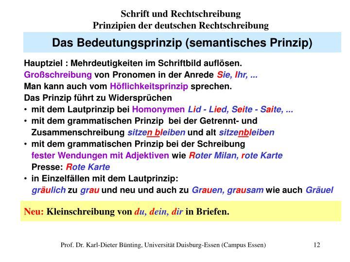 Schrift und Rechtschreibung