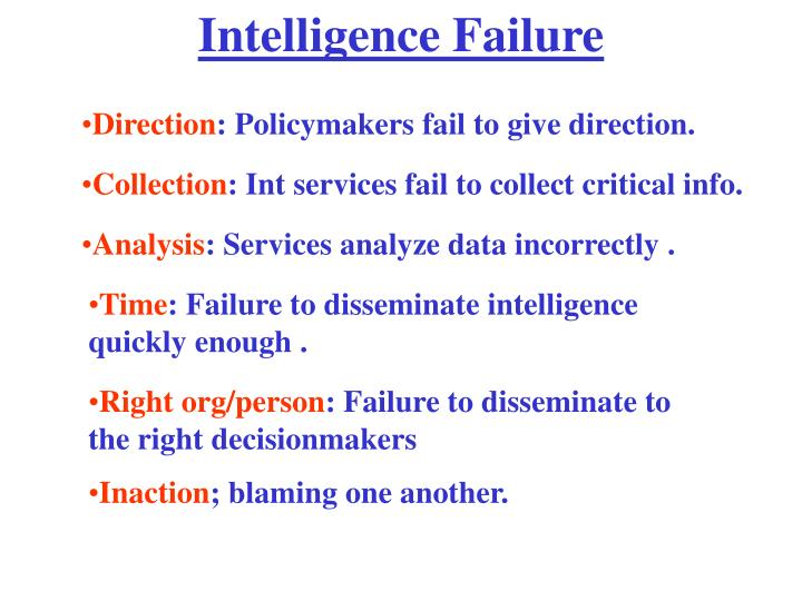 Intelligence Failure
