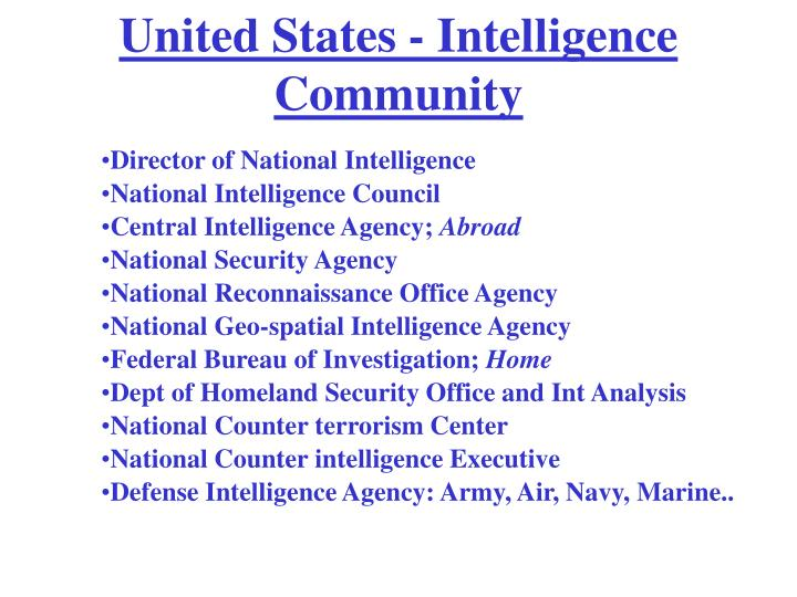 United States - Intelligence Community