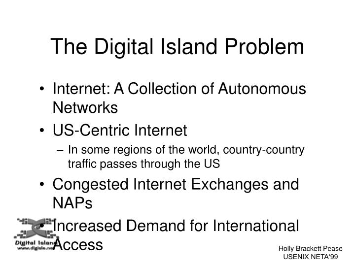 The Digital Island Problem