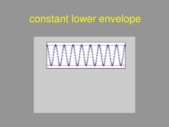 constant lower envelope