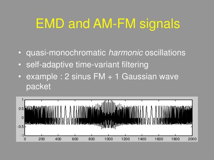 EMD and AM-FM signals