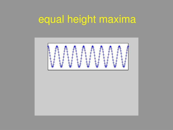 equal height maxima