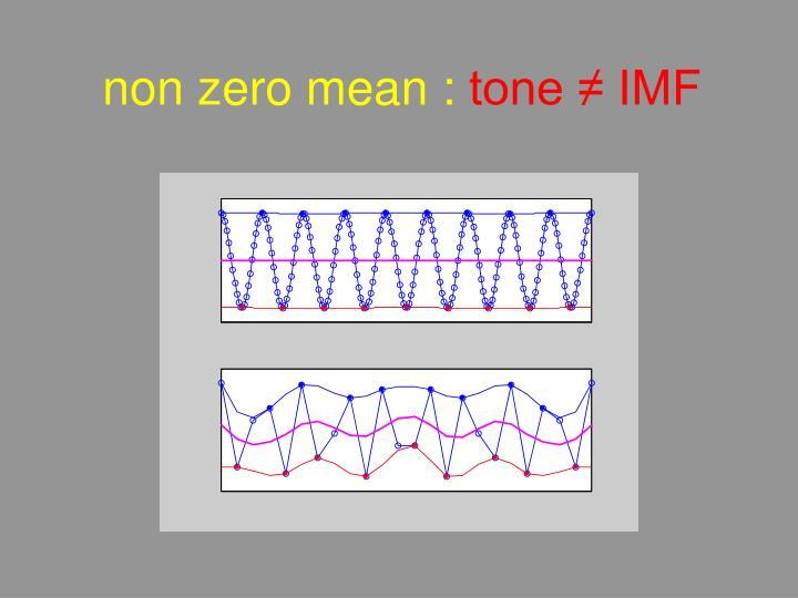 non zero mean :