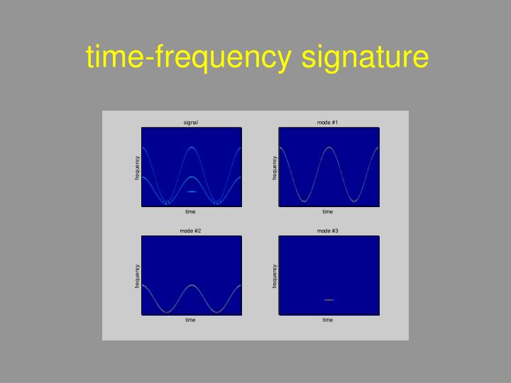 time-frequency signature