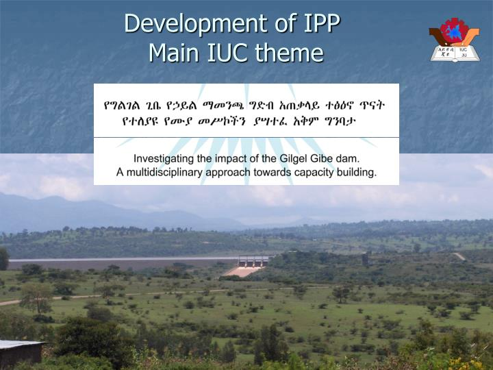Development of ipp main iuc theme