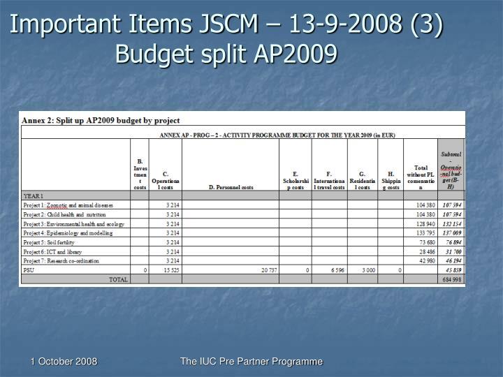 Important Items JSCM – 13-9-2008 (3)