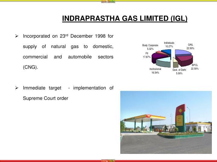 INDRAPRASTHA GAS LIMITED (IGL)