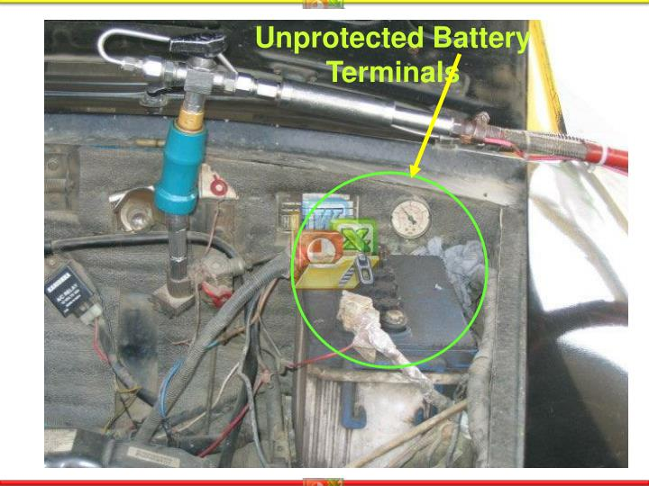 Unprotected Battery Terminals