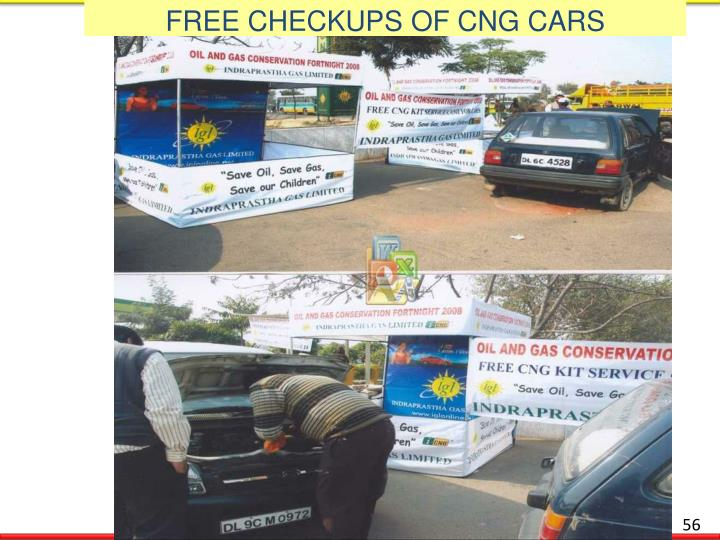 FREE CHECKUPS OF CNG CARS