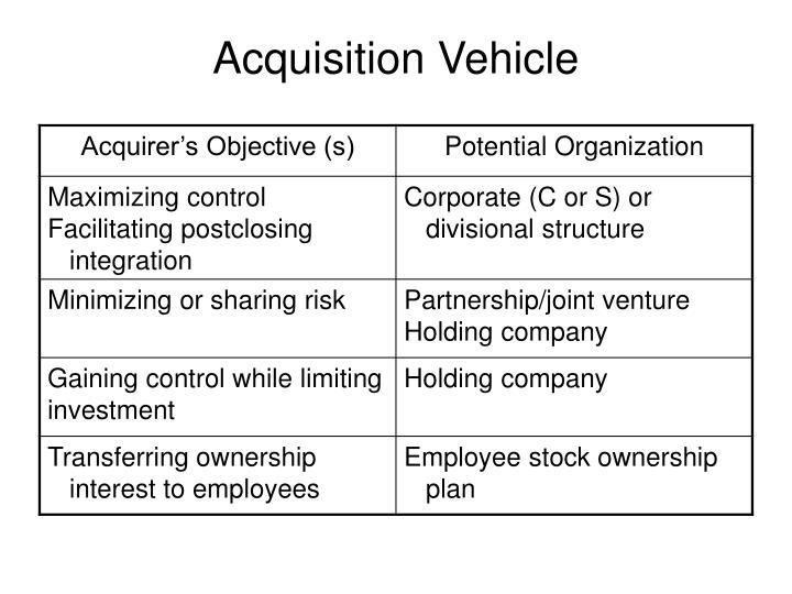 Acquisition Vehicle