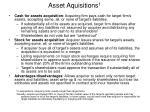 asset aquisitions 1