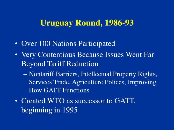 Uruguay Round, 1986-93