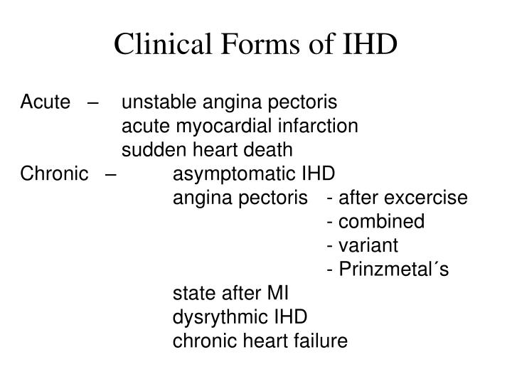 Clinical Forms of IHD