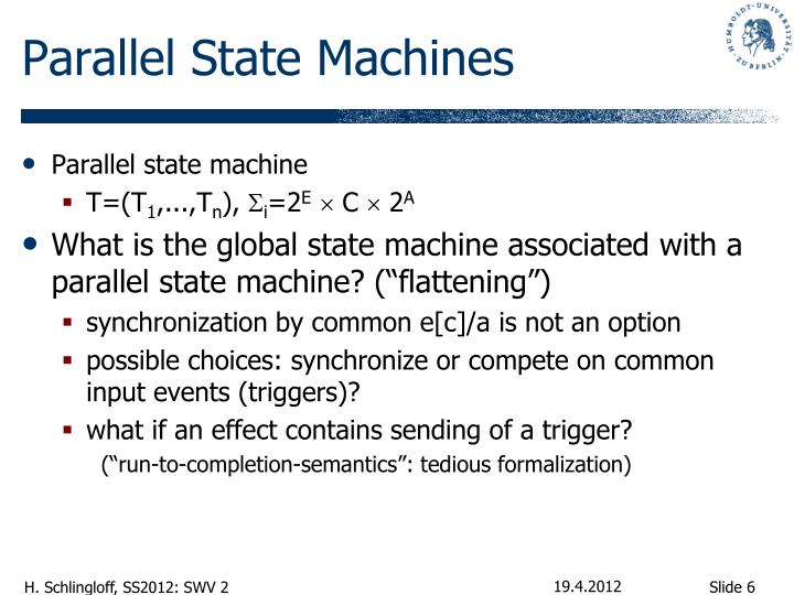 Parallel State Machines