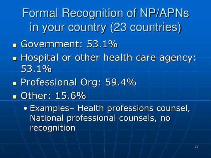 Formal Recognition of NP/APNs