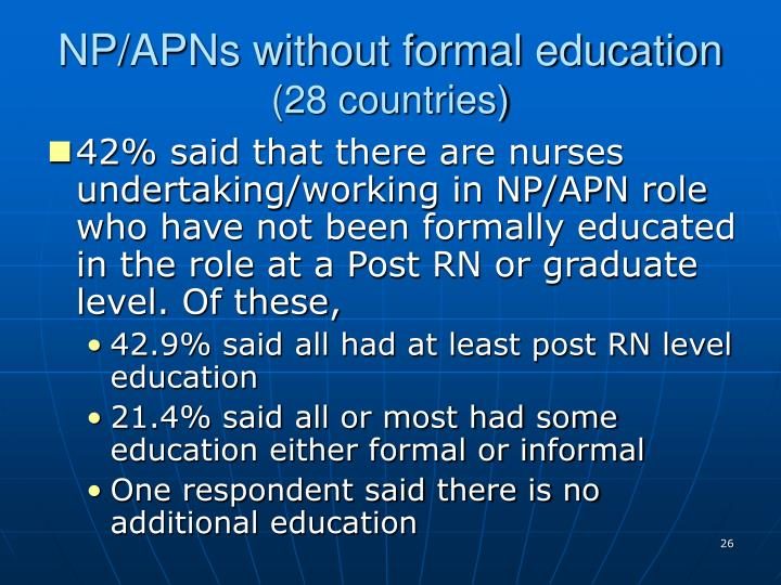 NP/APNs without formal education