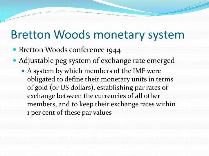 brenton woods agreement
