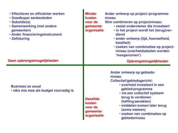 Effectiever en efficiënter werken