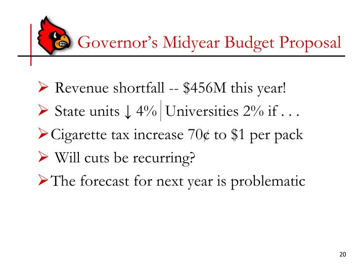 Governor's Midyear Budget Proposal