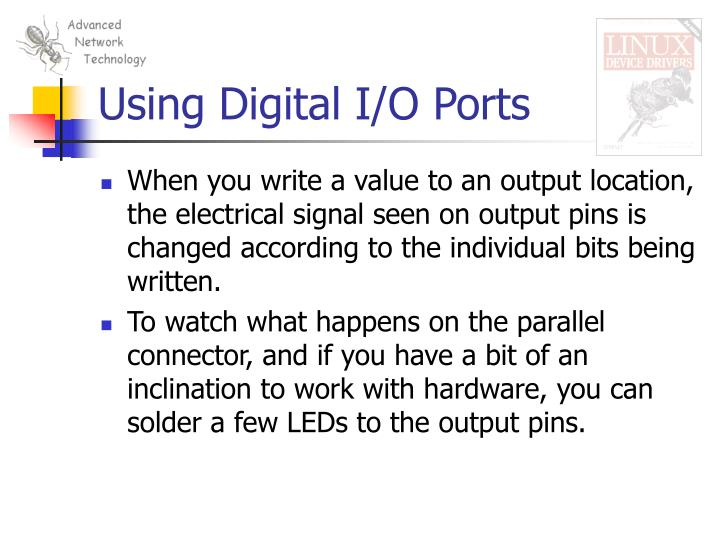 Using Digital I/O Ports