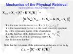 mechanics of the physical retrieval optimal estimation following rodgers 2000