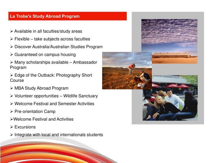 La Trobe's Study Abroad Program