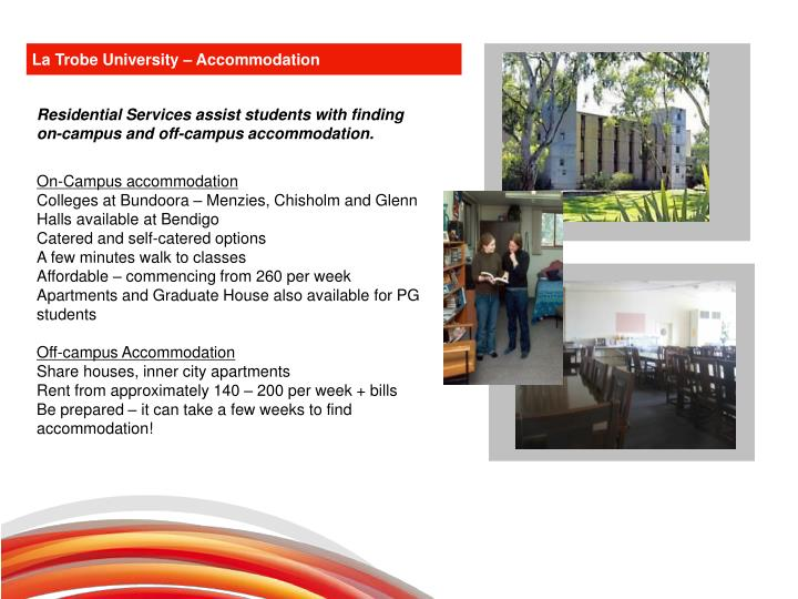 La Trobe University – Accommodation