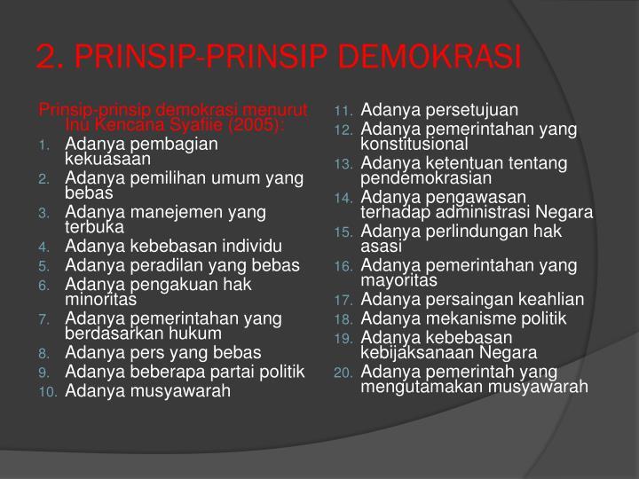 2. PRINSIP-PRINSIP DEMOKRASI