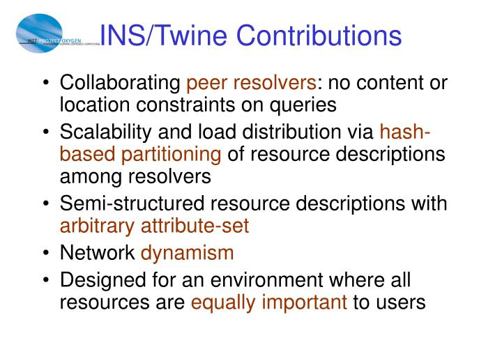 INS/Twine Contributions