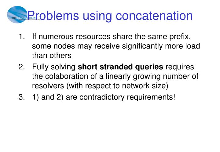 Problems using concatenation
