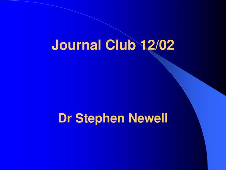 Journal Club 12/02