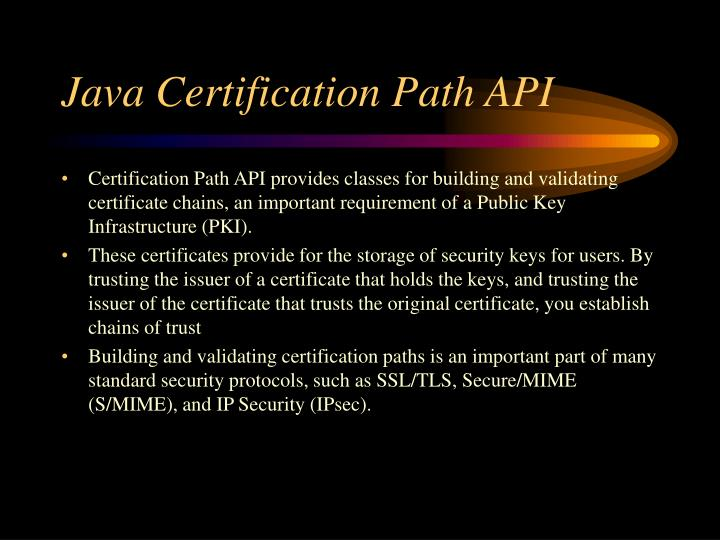 Java Certification Path API