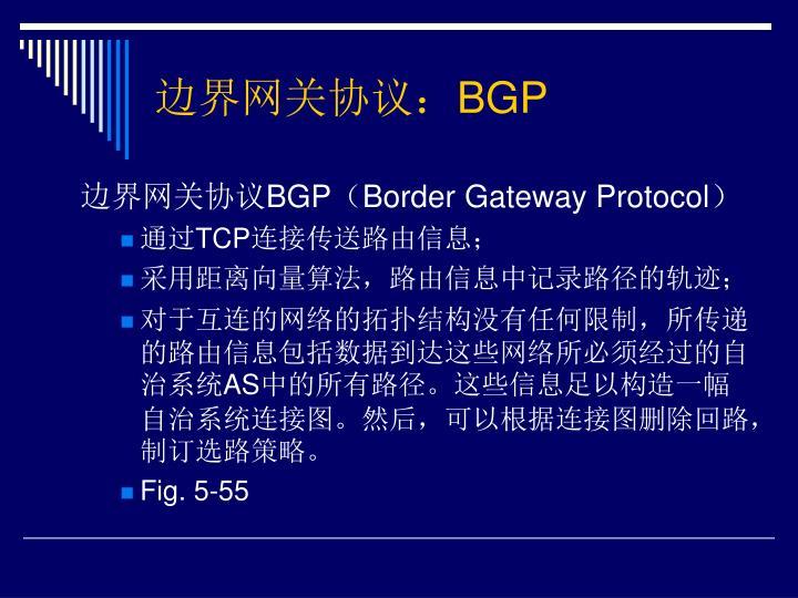 边界网关协议: