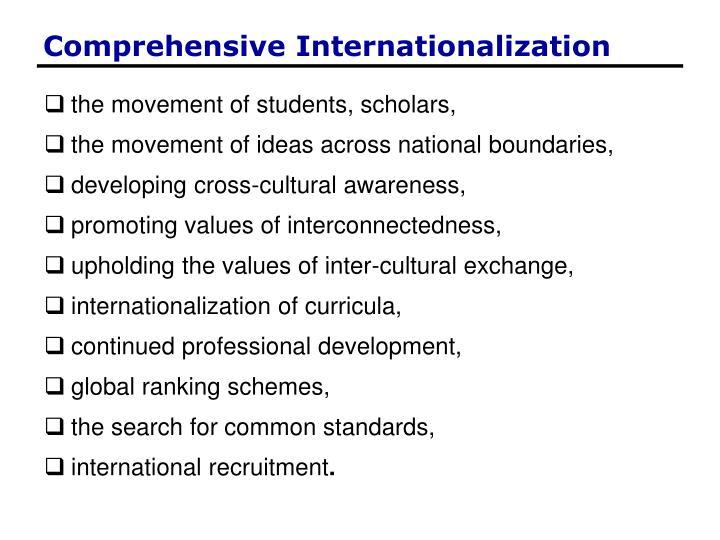 Comprehensive Internationalization