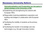 necessary university reform